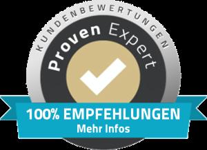 Positives Feedback unserer Kunden zu ProvenExpert.