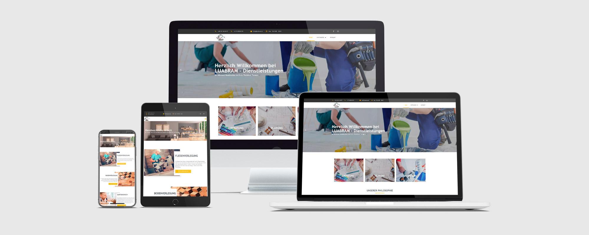 Webseitentwicklung für Dienstleistungen