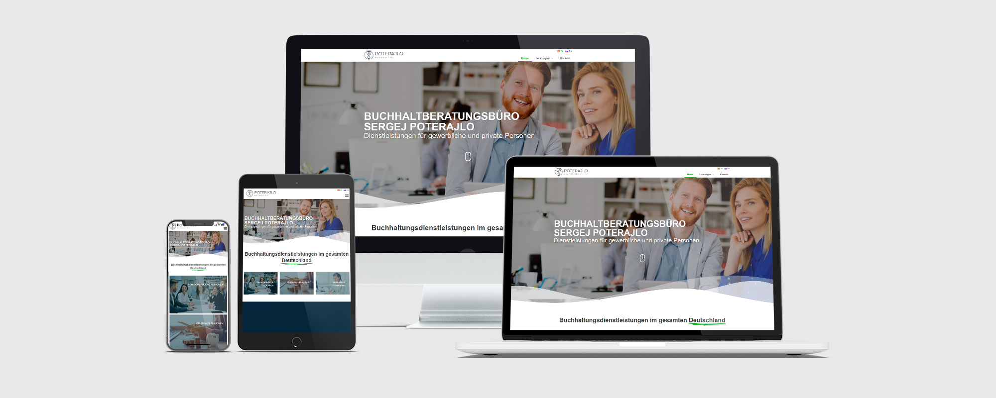 Webseitentwicklung für Buchhaltberatungsbüro