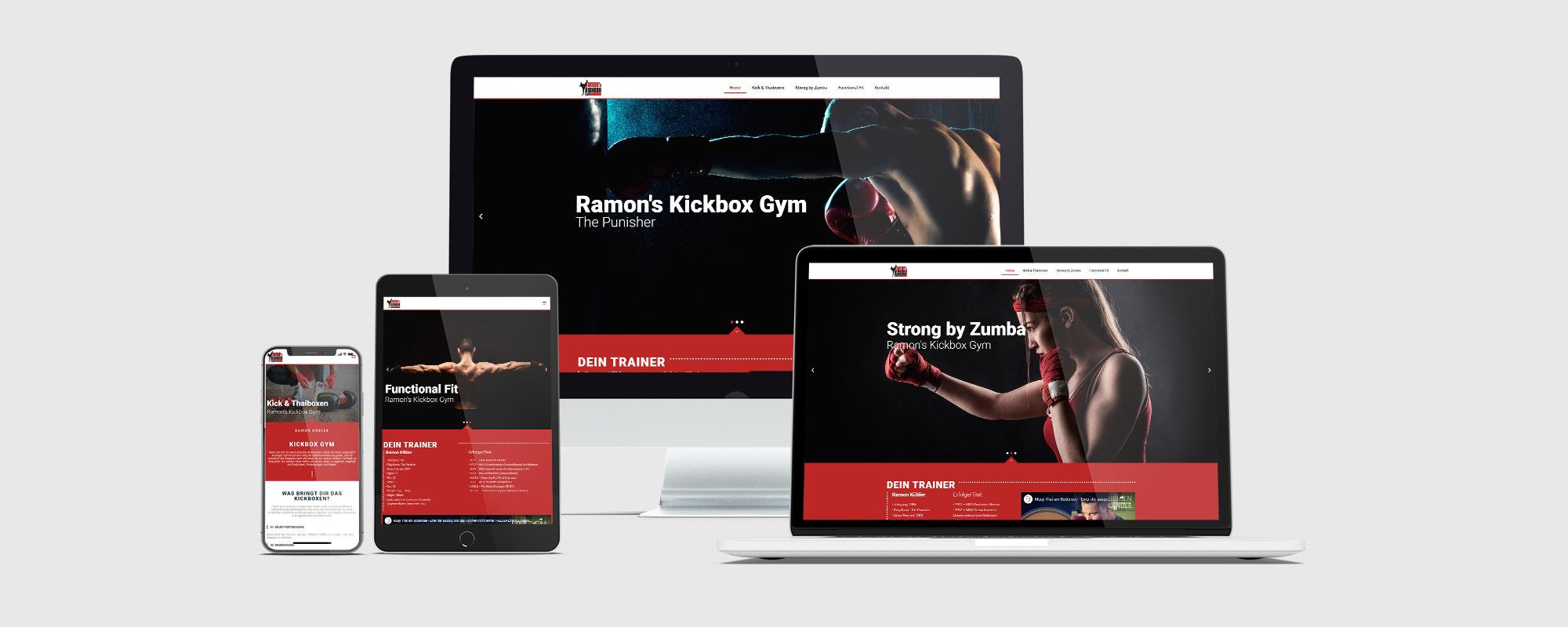 Webseitentwicklung für Kick & Thaibox Weltmeister