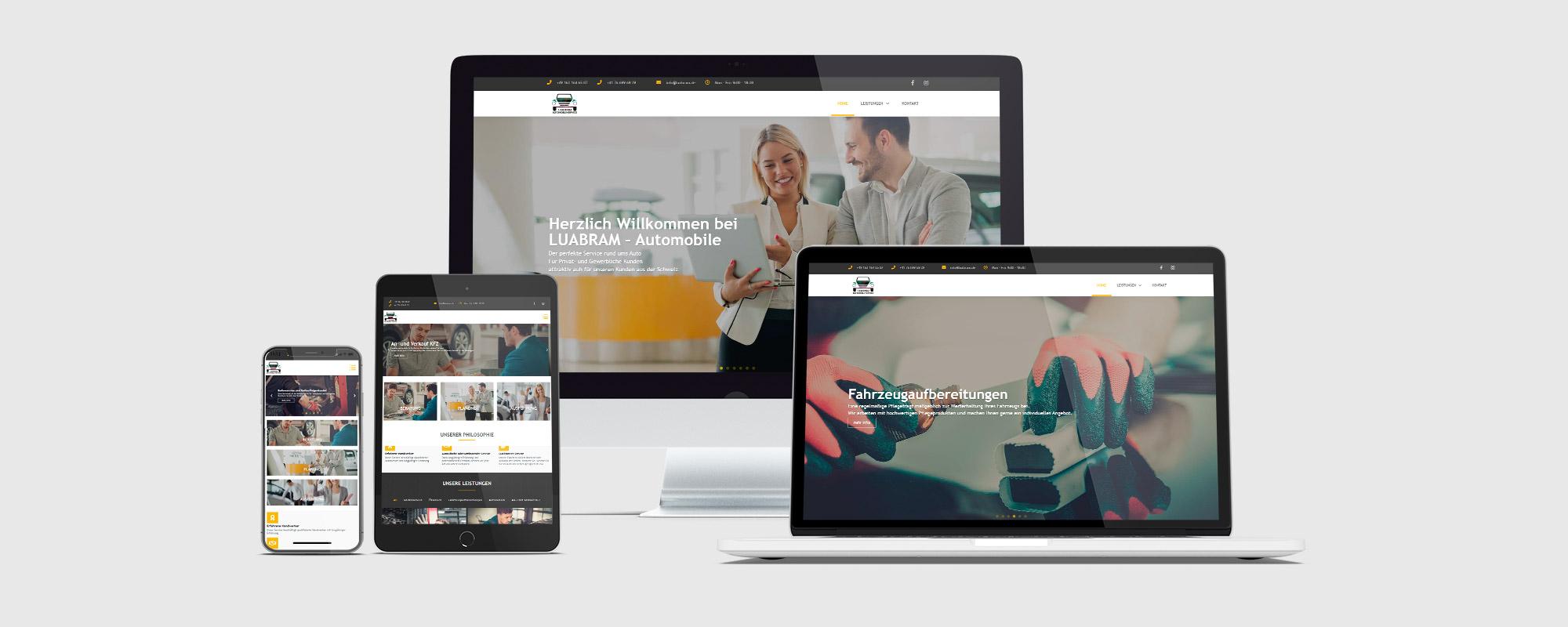 Webseitentwicklung für LUABRAM GROUP
