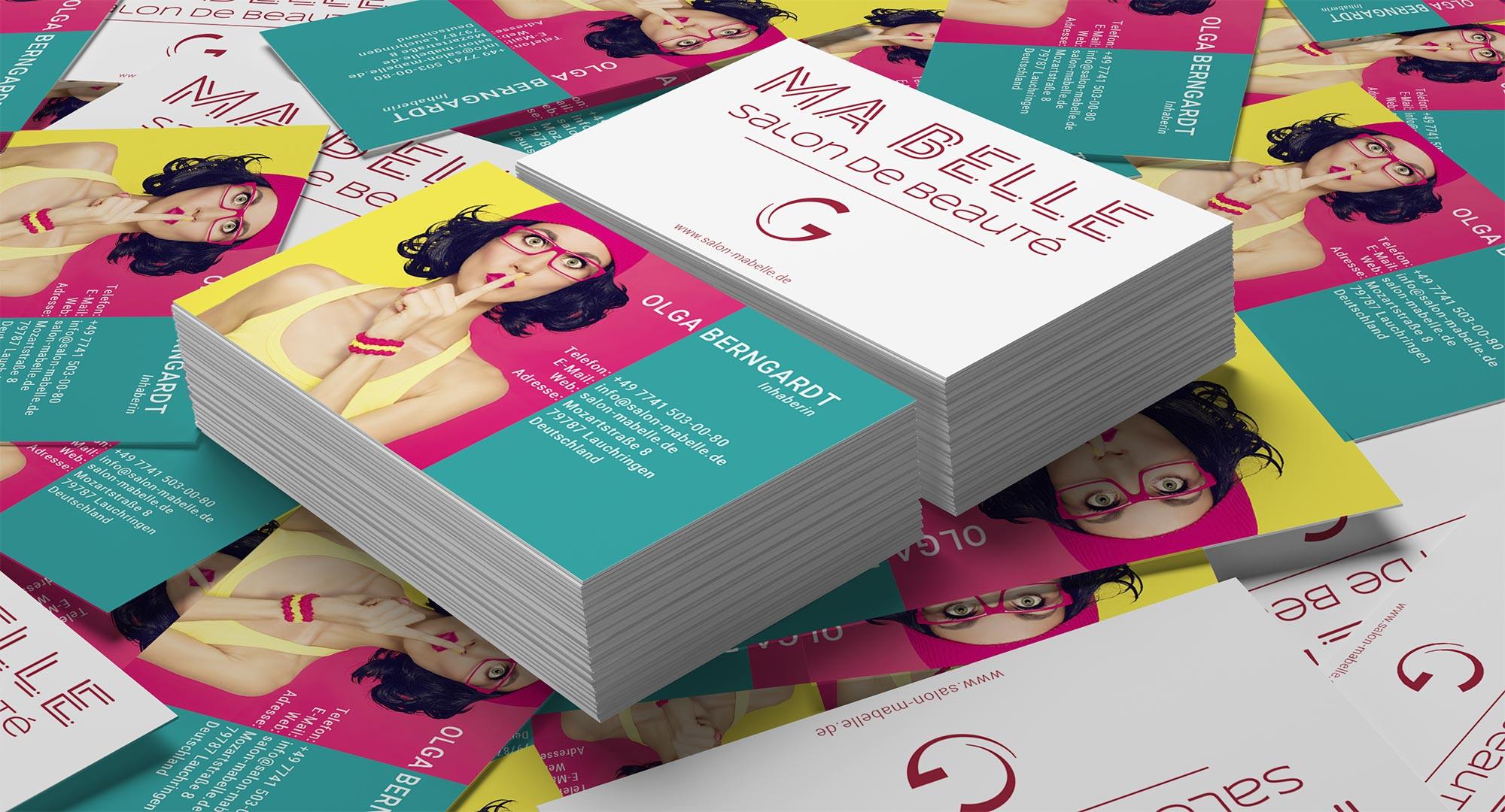 Визитные карточки для салона красоты