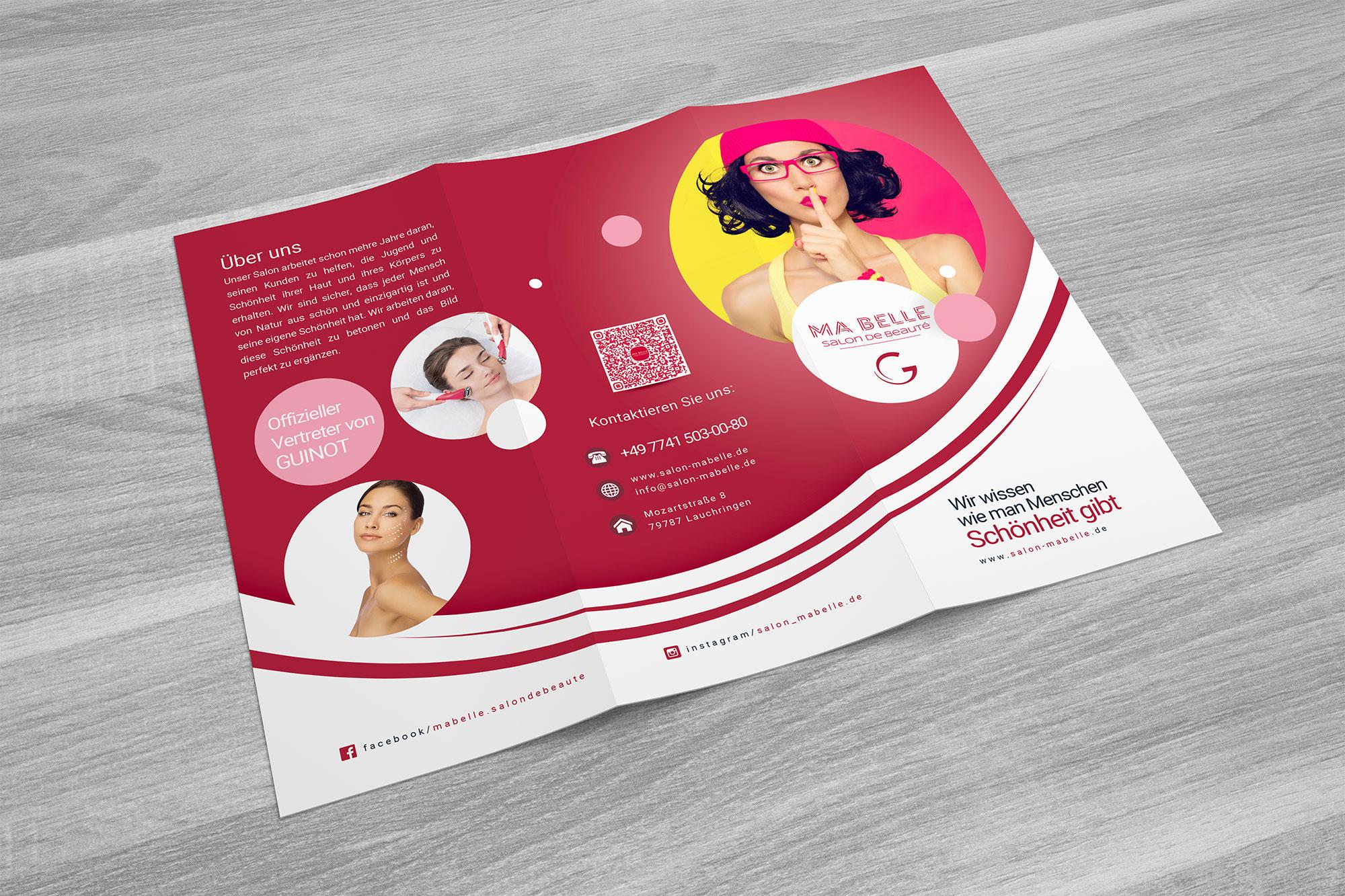 Flyer zum Schönheitssalon