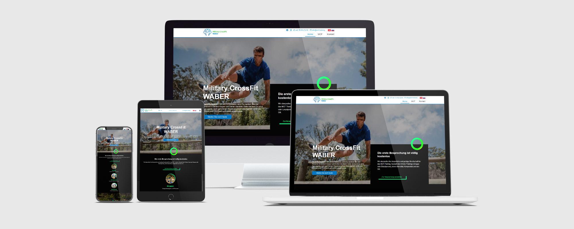Website-Entwicklung für einen persönlichen Military CrossFit-Instruktor